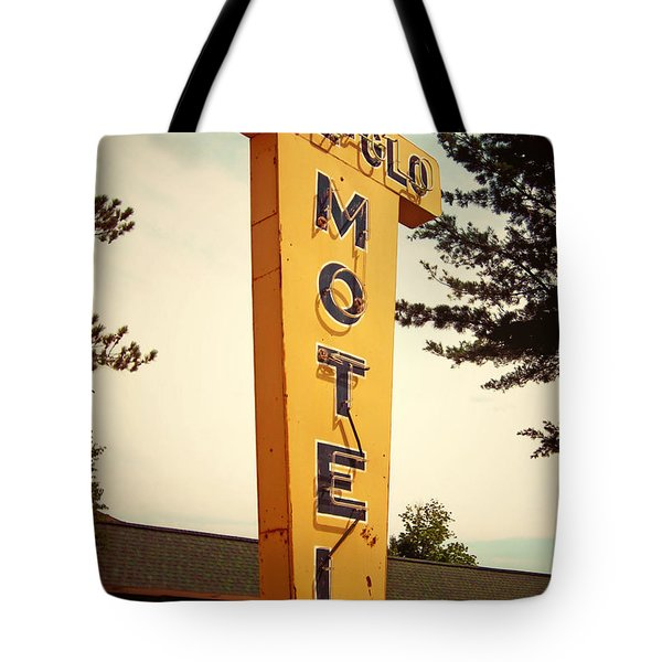 Pine Glo Motel Tote Bag