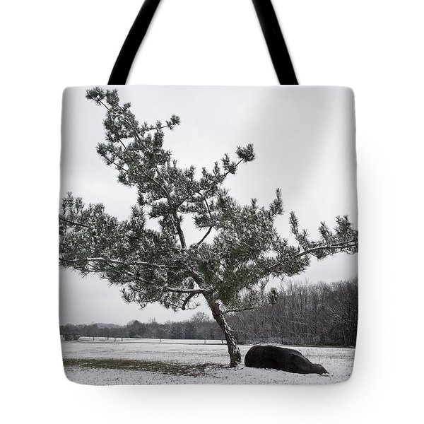 Pine Tree Tote Bag by Melinda Fawver