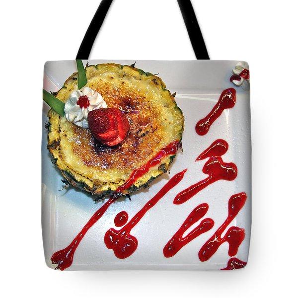 Pineapple Creme Brulee Maui Style Tote Bag by Karon Melillo DeVega