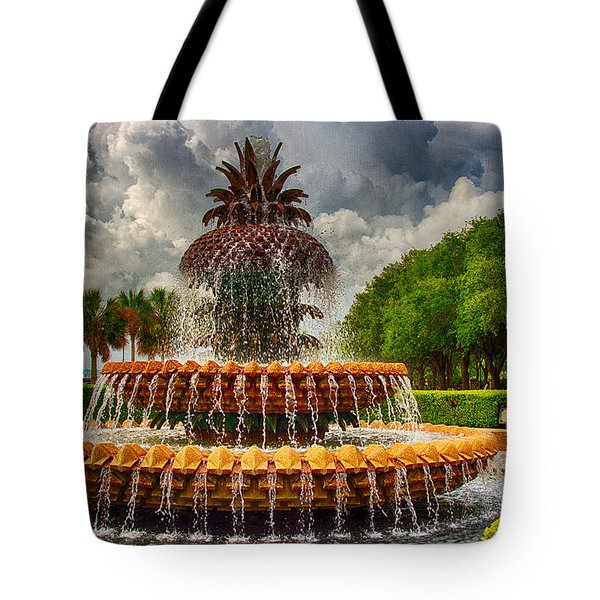 Pineapple Fountain Charleston Tote Bag