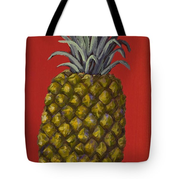 Pineapple On Red Tote Bag by Darice Machel McGuire