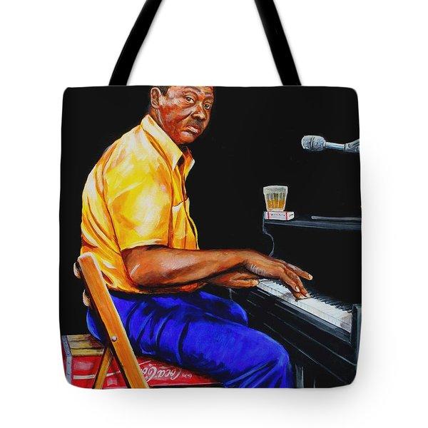Pinetop Perkins Tote Bag by Karl Wagner