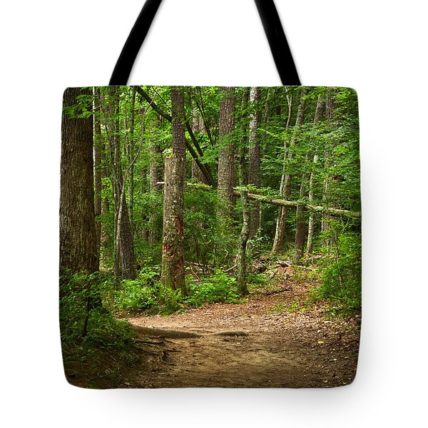 Pinewood Path Tote Bag