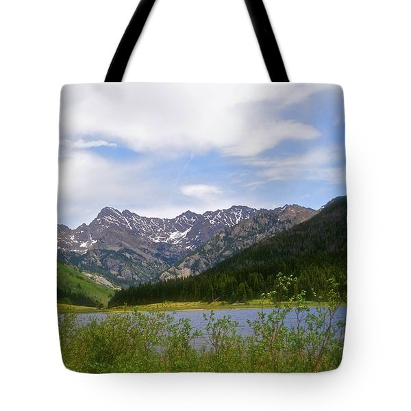 Piney Lake In Upper Vail Tote Bag