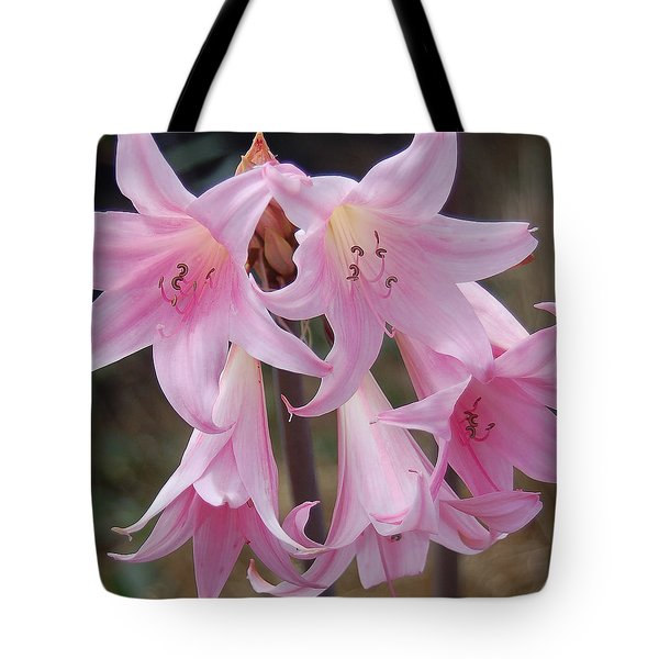 Pink Agapanthus Tote Bag by Suzanne Gaff