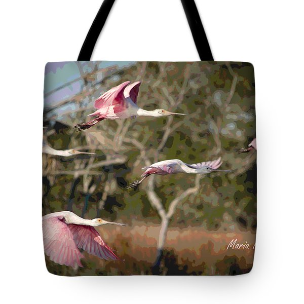 Pink And Feathers Tote Bag