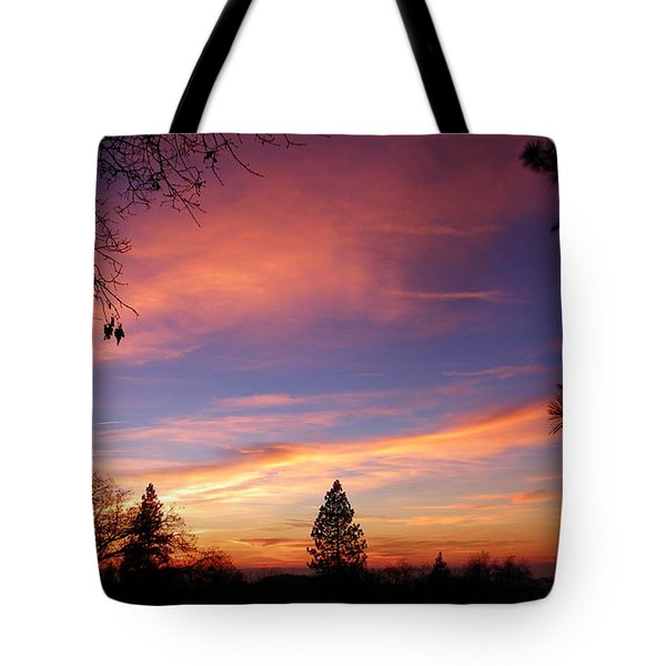 Pink And Orange Tote Bag