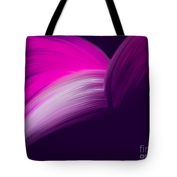 Pink And Purple Curves Tote Bag