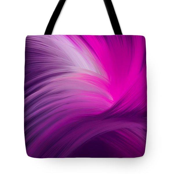 Pink And Purple Swirls Tote Bag