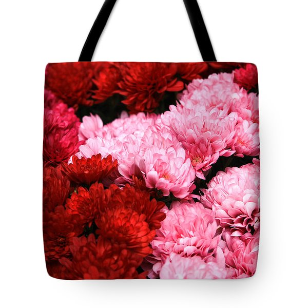 Pink And Red Tote Bag by Menachem Ganon