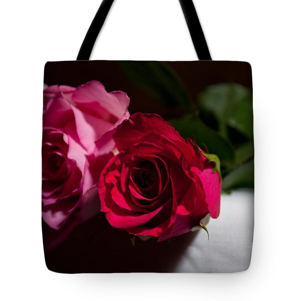 Tote Bag featuring the photograph Pink And Red Rose by Matt Malloy