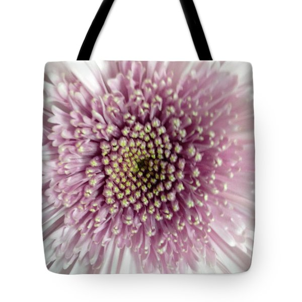 Pink And White Chrysanthemum Tote Bag