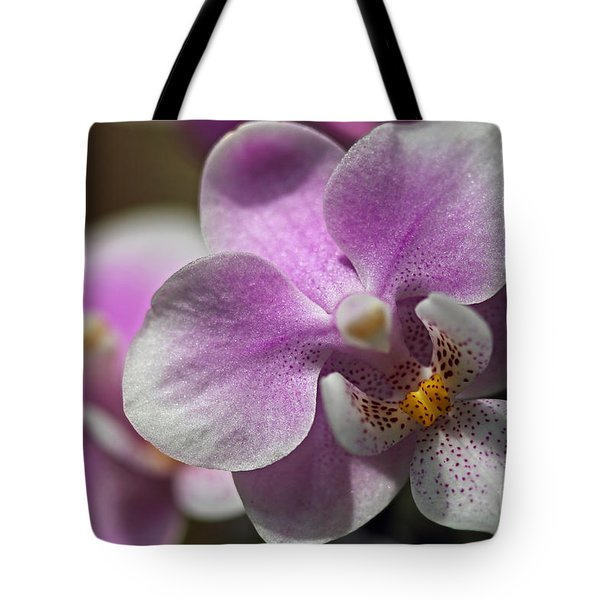 Pink And White Orchid Tote Bag