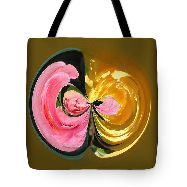 Pink And Yellow Hibiscus 801 Tote Bag