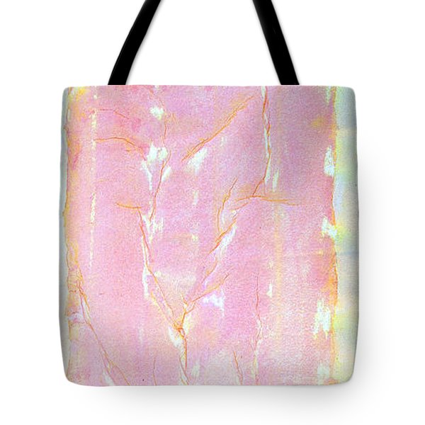 Tote Bag featuring the painting Pink Angel Softly Passing by Asha Carolyn Young