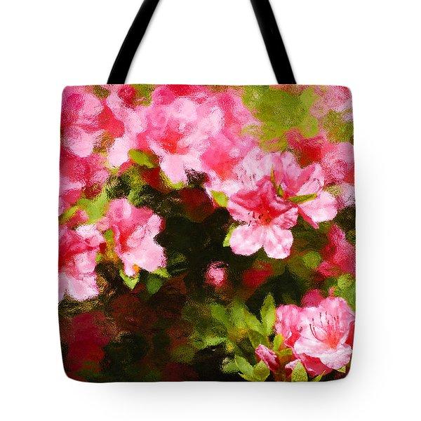 Pink Azealas Tote Bag
