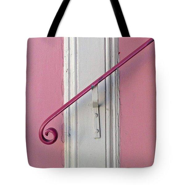 Pink Bannister Tote Bag