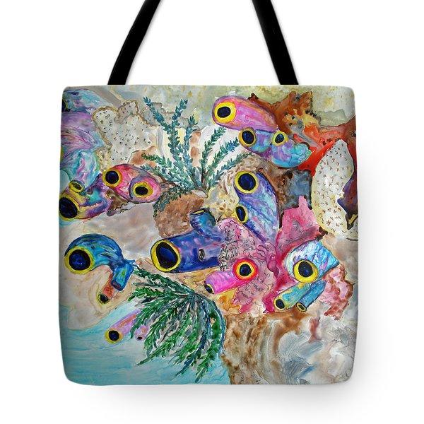 Pink Beach Sea Squirts Tote Bag