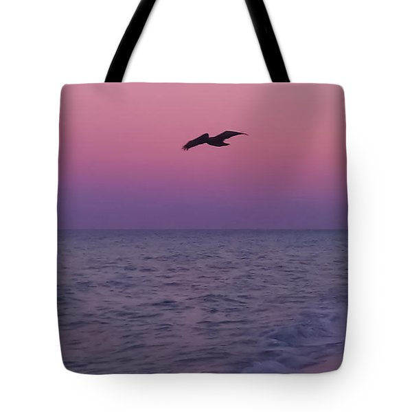 Pink Beach Sunset Tote Bag