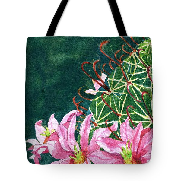 Tote Bag featuring the painting Pink Beauty by Eric Samuelson