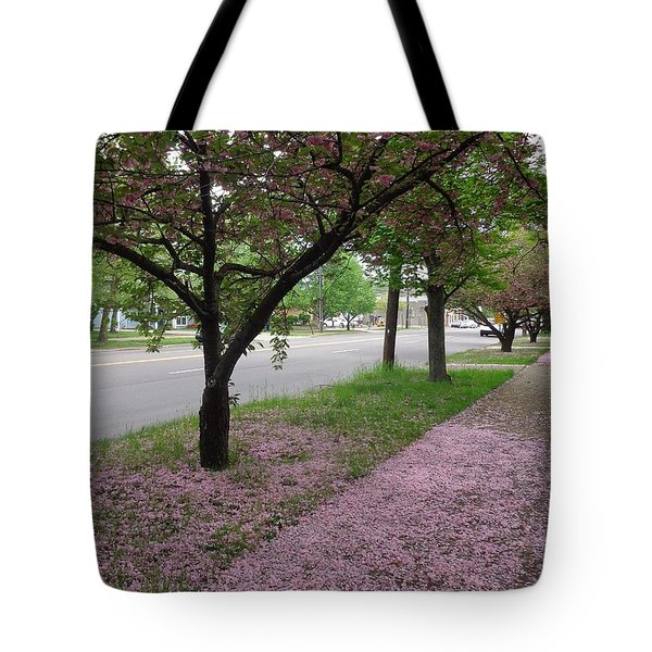 Pink Bloom  Tote Bag by Christina Verdgeline