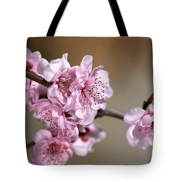 Pink Blossom Tote Bag by Joy Watson