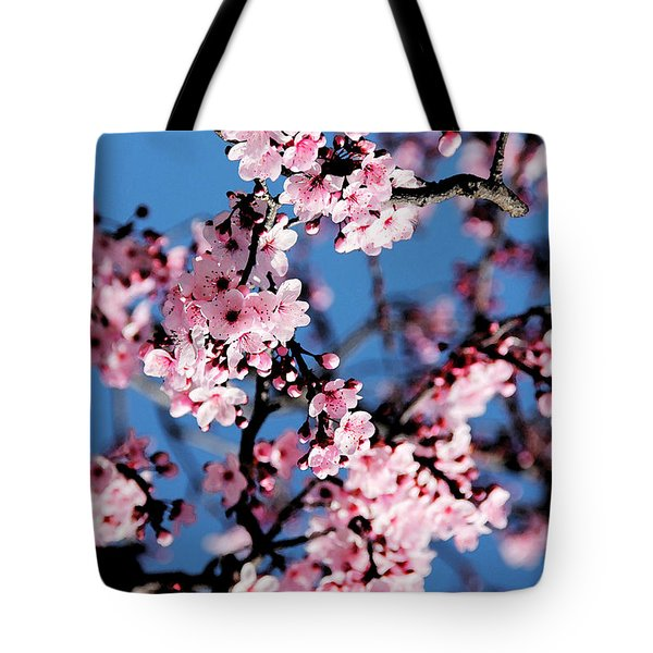 Pink Blossoms On The Tree Tote Bag