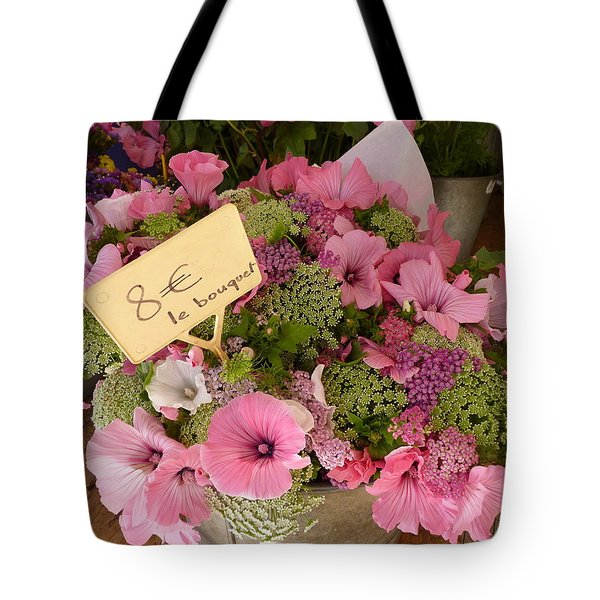 Pink Bouquet Tote Bag by Carla Parris