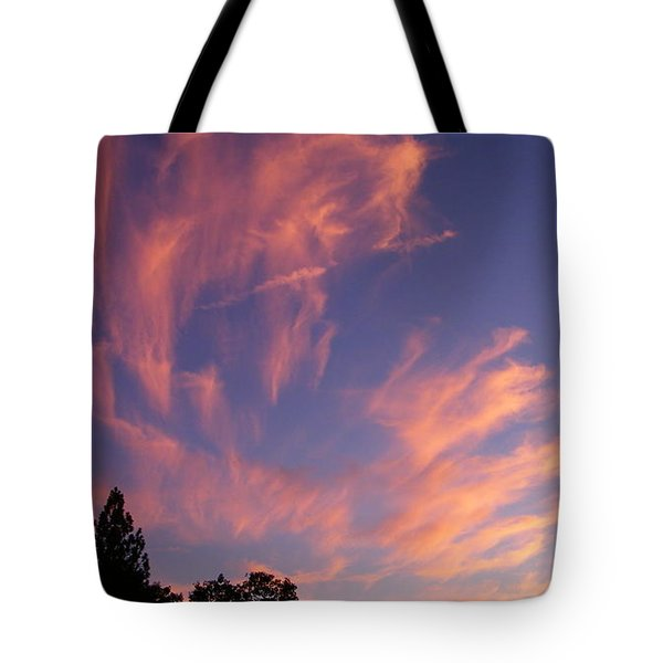 Pink Burst Tote Bag by Tom Mansfield