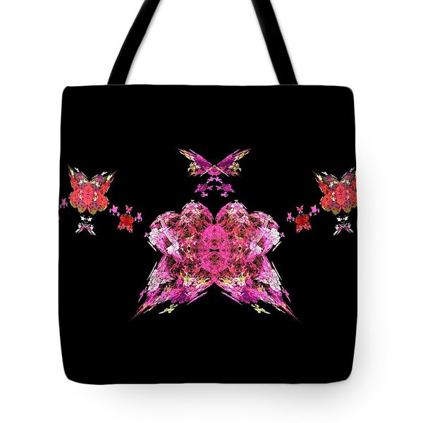 Pink Butterflies Tote Bag by Bruce Nutting