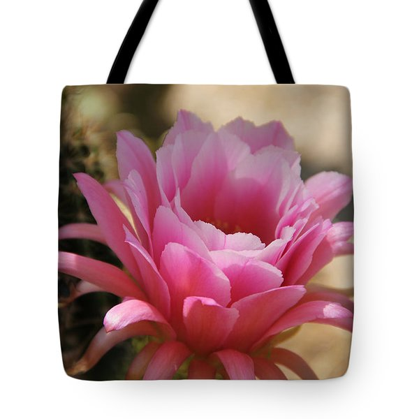 Tote Bag featuring the photograph Pink Cactus by Tammy Espino