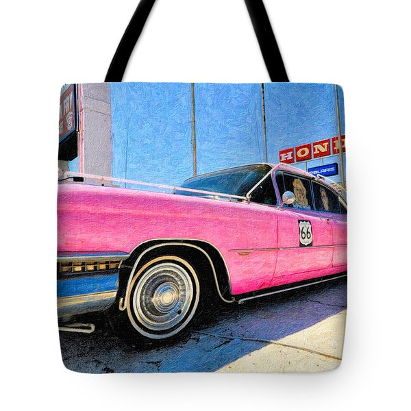 Pink Cadillac Tote Bag by Liane Wright
