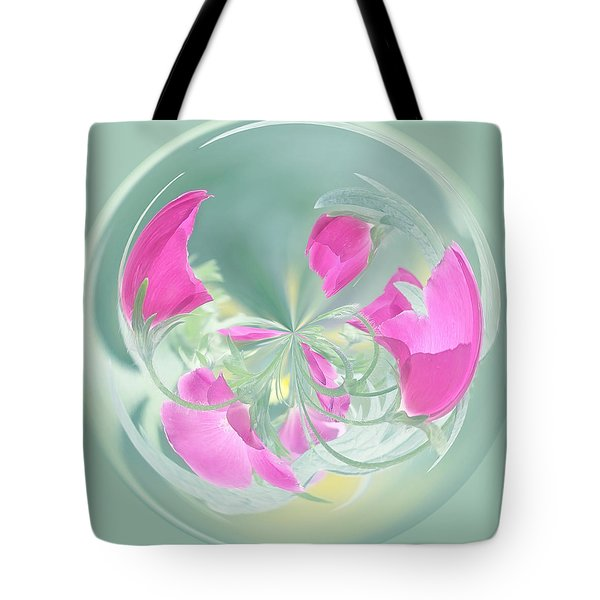 Pink California Poppy Orb Tote Bag by Kim Hojnacki