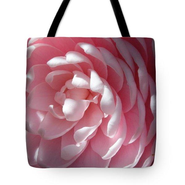 Pink Camellia Closeup Tote Bag by Carol Groenen