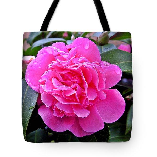Pink Camillia Tote Bag