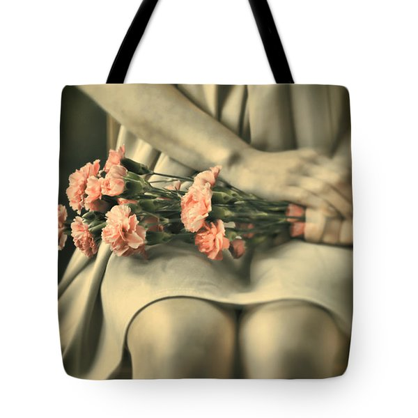 Tote Bag featuring the photograph Pink Carnations by Craig B
