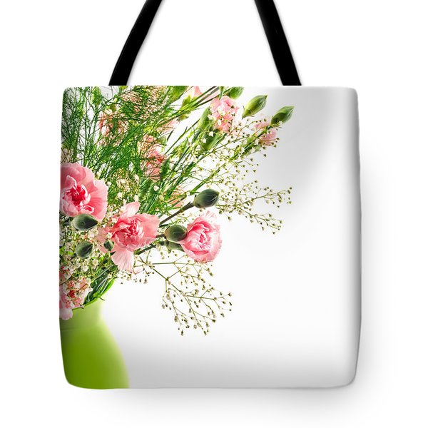 Pink Carnation Flowers Tote Bag