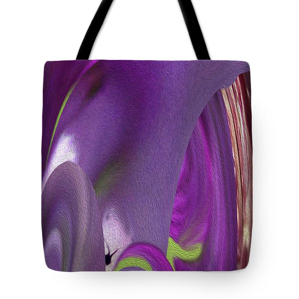Pink Cavern Tote Bag by Betty Depee