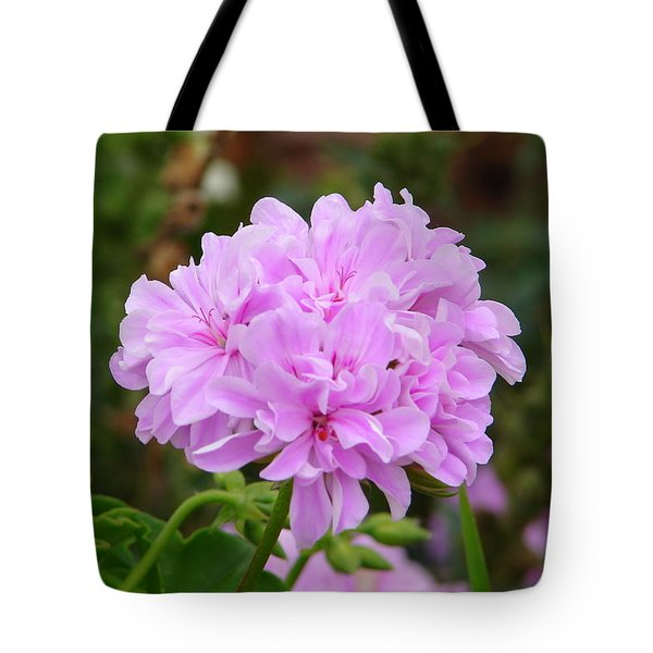 Tote Bag featuring the photograph Pink Cluster by Lew Davis