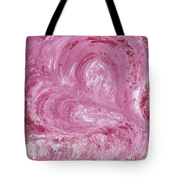 Pink Color Of Energy Tote Bag