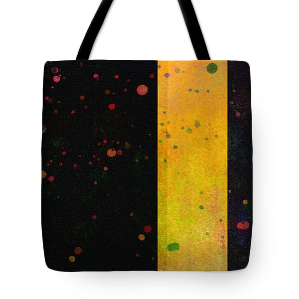 Pink  Color Splach Abstract Art  Tote Bag by Ann Powell