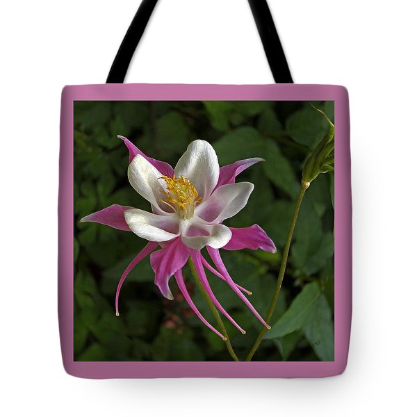 Pink Columbine Flower Tote Bag by Ben and Raisa Gertsberg