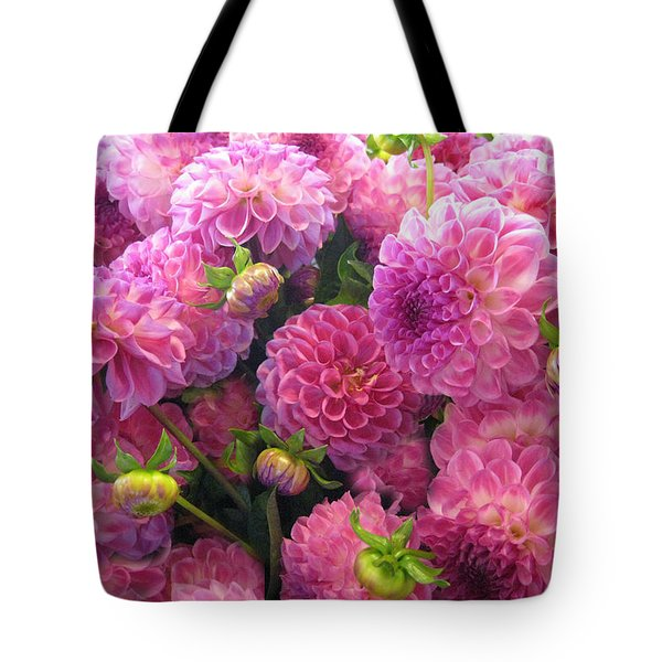 Tote Bag featuring the photograph Pink Dahlia Bouquet by Geraldine Alexander