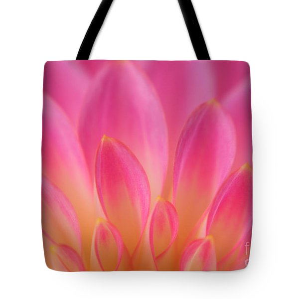 Pink Dahlia Close-up Tote Bag by Olivia Hardwicke