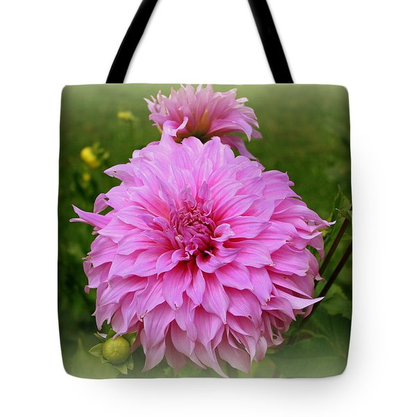 Pink Dahlia Tote Bag by Donna Walsh