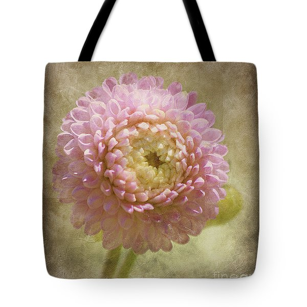 Tote Bag featuring the photograph Pink Dahlia  by Irina Hays