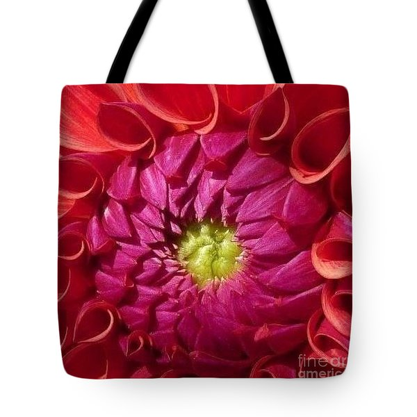 Tote Bag featuring the photograph Pink Dahlia Variation by Susan Garren
