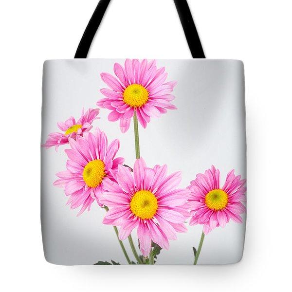 Pink Dasies Tote Bag