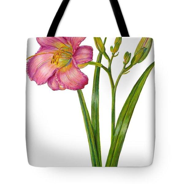 Pink Daylily - Hemerocallis Tote Bag