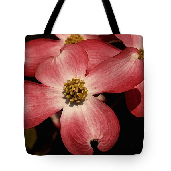 Tote Bag featuring the photograph Pink Dogwood by James C Thomas